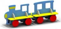 Скамейка паровозик