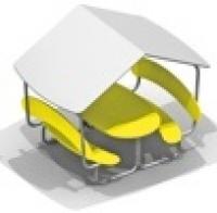 Столик детский с крышей