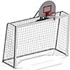 Ворота гандбольные с баскетбольным щитом и сеткой