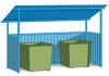 Контейнерная площадка с крышей