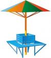 Зонтик со скамейкой