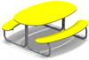Столик со скамейками детский